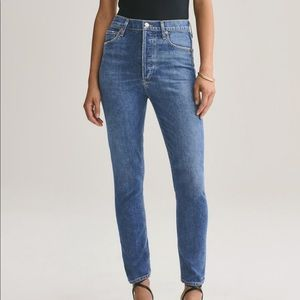 Agolde Nico High Rise Slim Fit Skinny Jeans